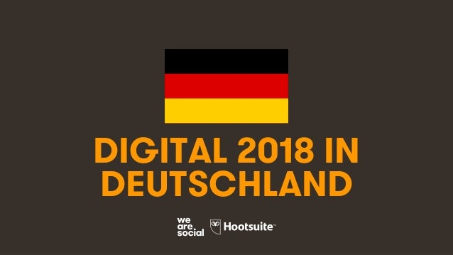1 DIGITAL 2018 IN DEUTSCHLAND