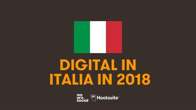 1 DIGITAL IN ITALIA IN 2018
