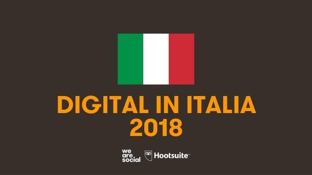 1 DIGITAL IN ITALIA 2018