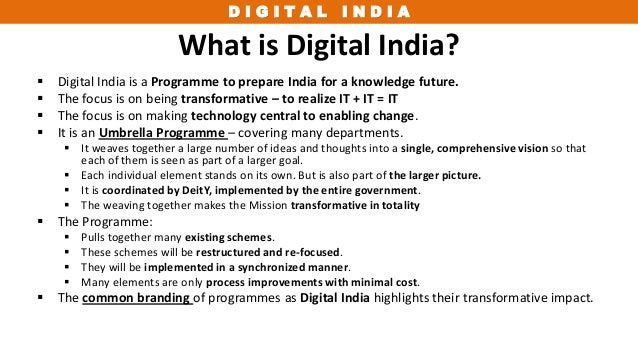 digital india   govt of india s flagship program for