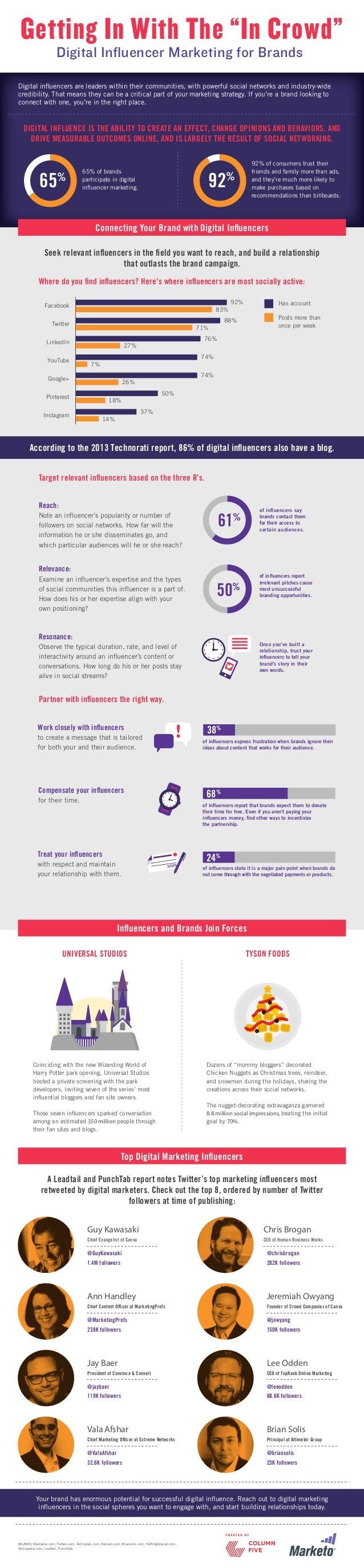 Digital Influencer Marketing for Brands infographic