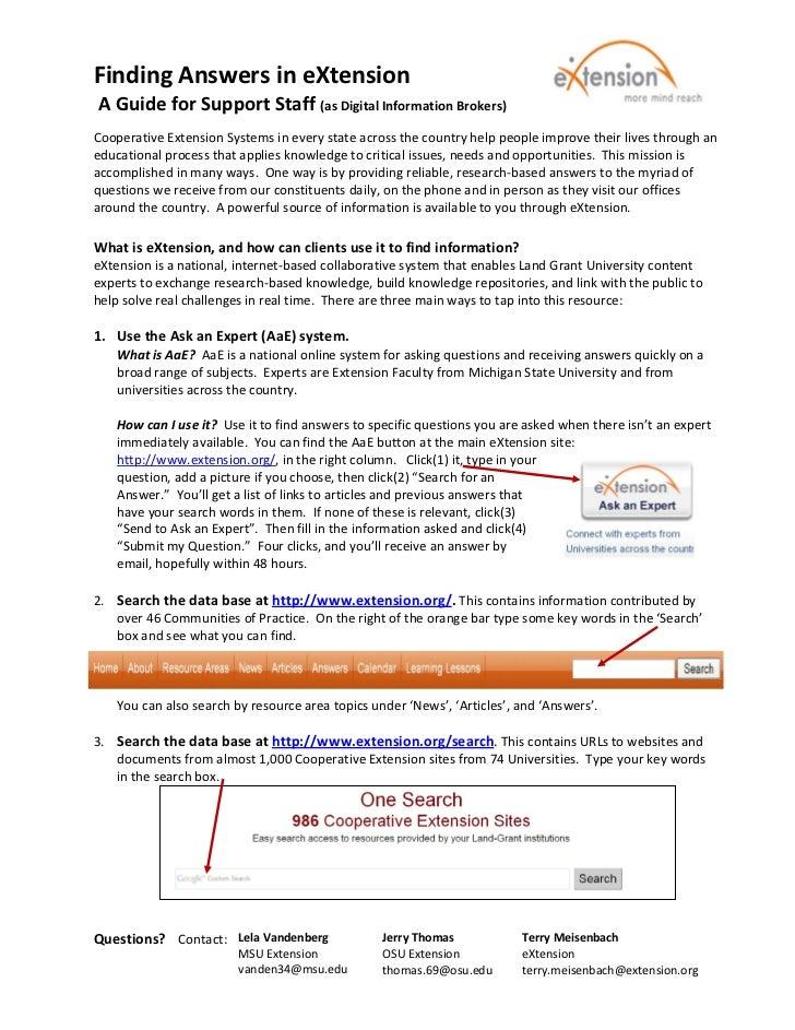 FindingAnswersineXtensionAGuideforSupportStaff(asDigitalInformationBrokers)                                ...