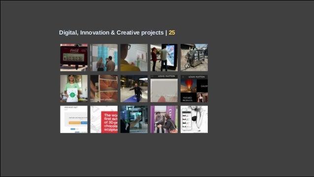 Digital, Innovation & Creative projects | 25
