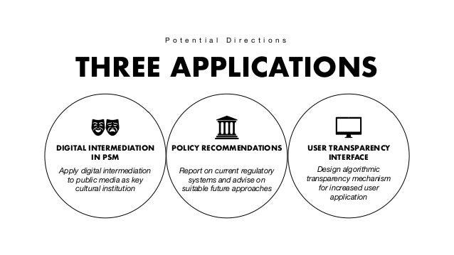 Digital intermediation: Towards Transparent Public Automated Media