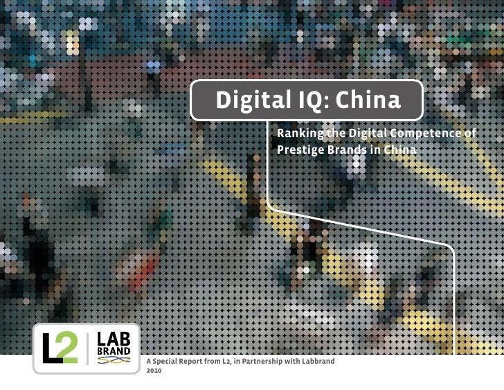 Digital IQ: China                                      Ranking the Digital Competence of                                  ...