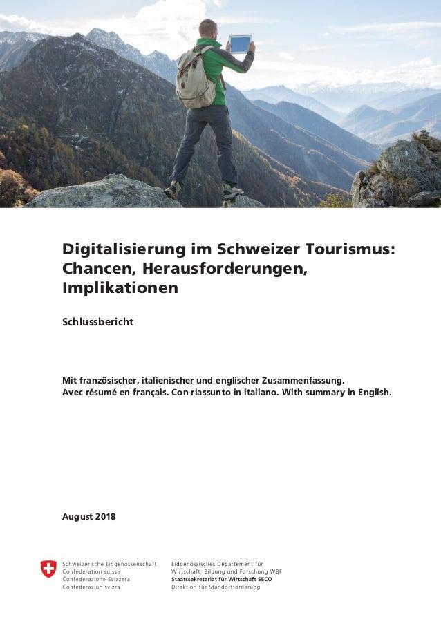 Digitalisierung Im Schweizer Tourismus Chancen Herausforderungen I