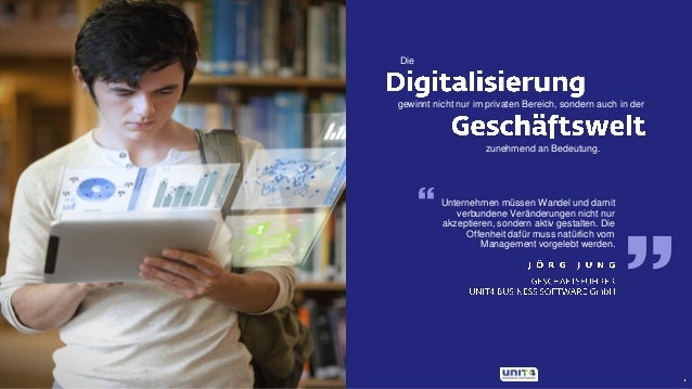 Digitalisierung mit UNIT4 Slide 2