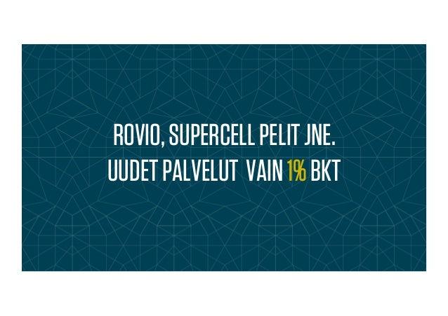 ROVIO,SUPERCELLPELITJNE. UUDETPALVELUT VAIN1%BKT