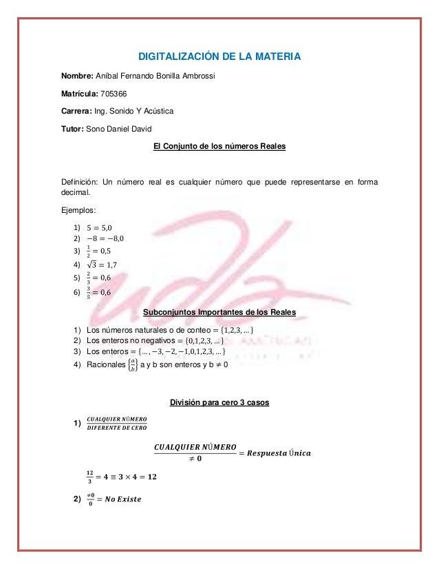 DIGITALIZACIÓN DE LA MATERIA Nombre: Aníbal Fernando Bonilla Ambrossi Matrícula: 705366 Carrera: Ing. Sonido Y Acústica Tu...