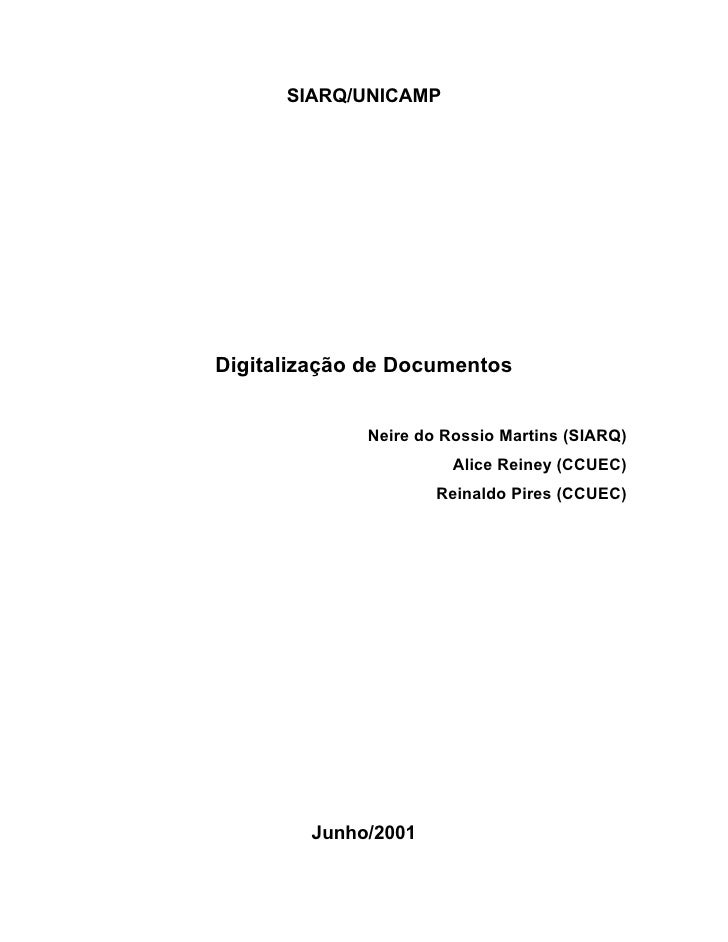 SIARQ/UNICAMPDigitalização de Documentos             Neire do Rossio Martins (SIARQ)                       Alice Reiney (C...