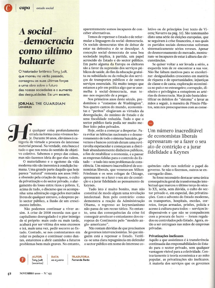 A SOCIAL DEMOCRACIA (2 artigos)