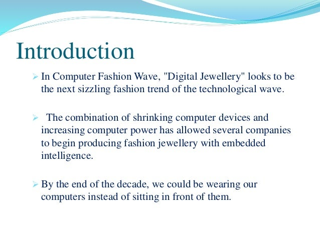 research paper on digital jewellery filetype pdf