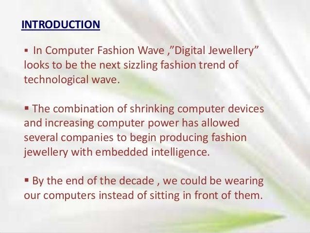 Biological disadvantages of digital jewellery