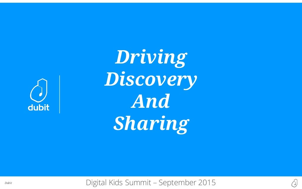 Driving Discovery and Sharing