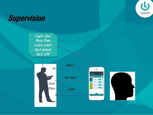 User Pass Login: User Pass: Pass Latch: Latch Op1:Unlock Op2: OTP Supervision Why? Answer OTP