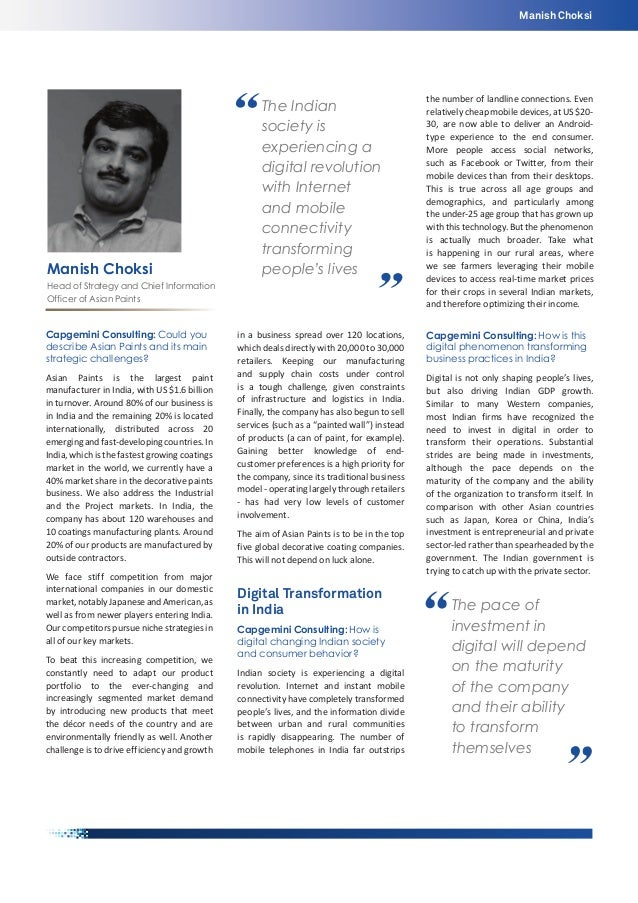 Manish Choksi  Manish Choksi  The Indian society is experiencing a digital revolution with Internet and mobile connectivit...