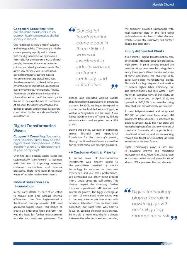 Manish Choksi  Capgemini Consulting: What are the main roadblocks to an economically progressive digital society in India?...