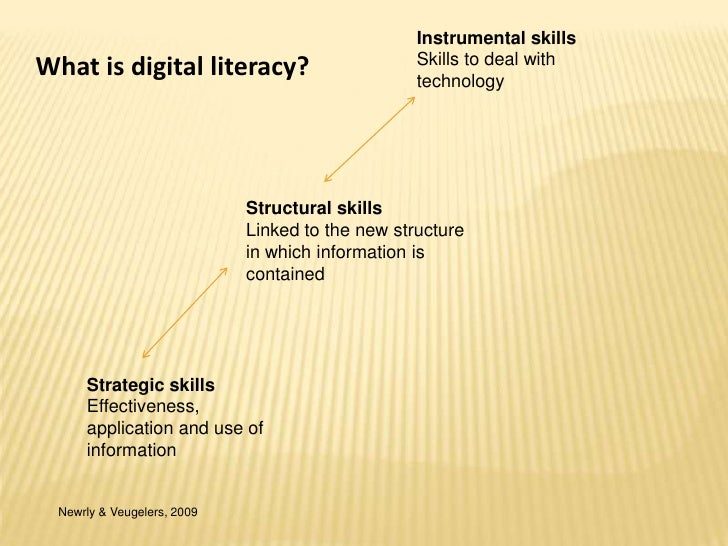 Instrumental skills<br />Skills to deal with technology <br />What is digital literacy? <br />Structural skills<br />Linke...
