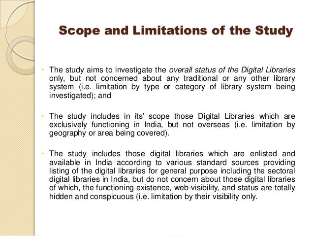 scope delimitations research paper Related post of what is scope and delimitation in research paper.