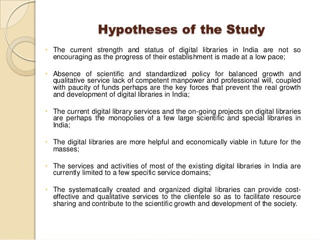Sample Hypothesis Of Thesis