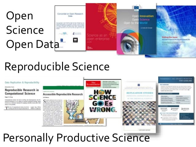 Open Science Open Data Reproducible Science Personally Productive Science