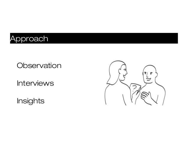 Approach Observation Interviews Insights