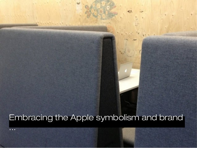 Embracing the Apple symbolism and brand...
