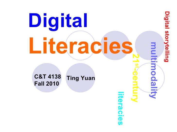 Digital   Literacies C&T 4138   Fall   2010   multimodality Digital   storytelling 21 st -century   literacies Ting Yuan
