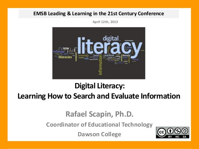 EMSB Leading & Learning in the 21st Century Conference                            April 12th, 2013                Digital ...