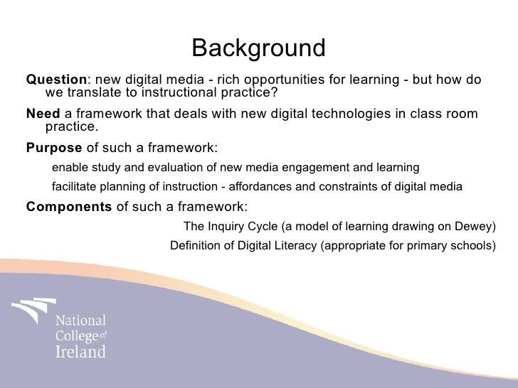Digital literacy in primary school site presentation 2010 Slide 2