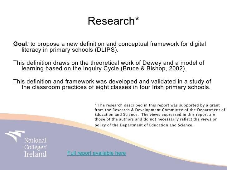 Digital literacy in primary school site presentation 2010 Slide 3