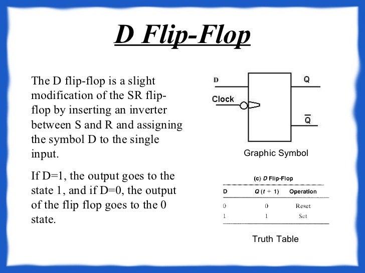 d flip-flop graphic symbol truth table