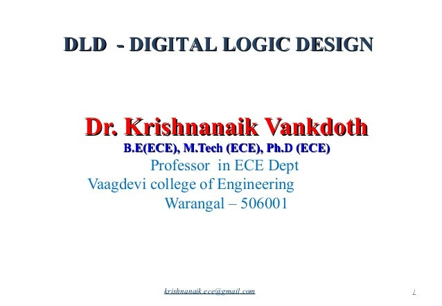 Digital Logic Design Part1