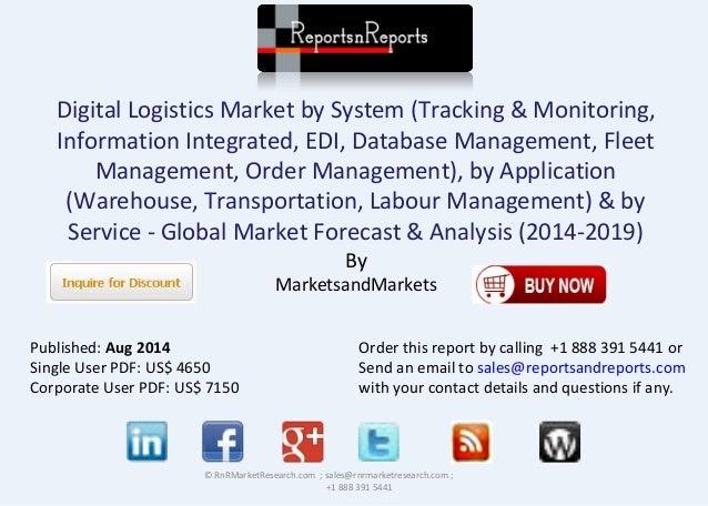 Global Digital Logistics Market Forecast To 2019 And