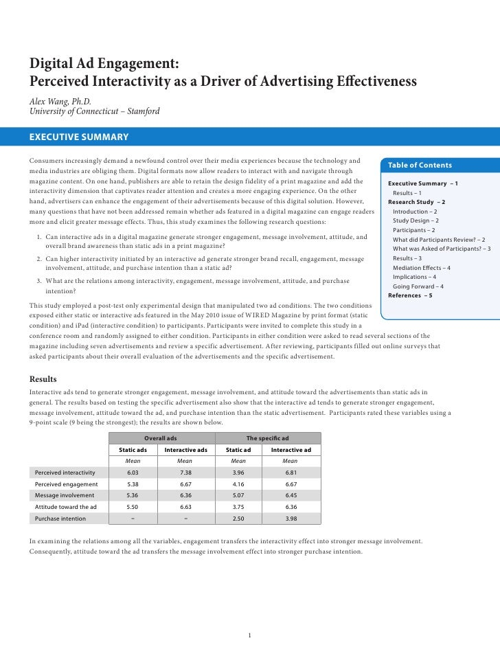 Digital Ad Engagement:Perceived Interactivity as a Driver of Advertising EffectivenessAlex Wang, Ph.D.University of Connec...