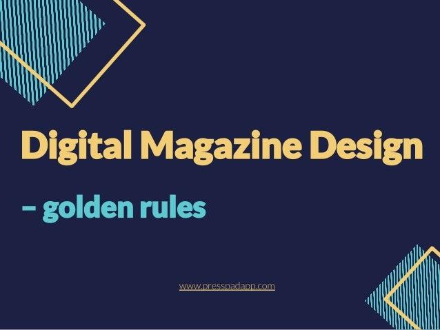 PressPad Digital Magazine Design
