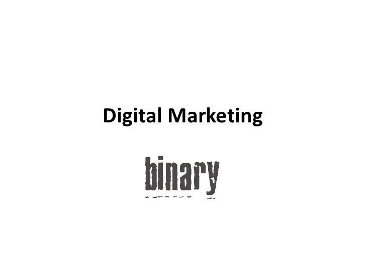 Digital Marketing<br />