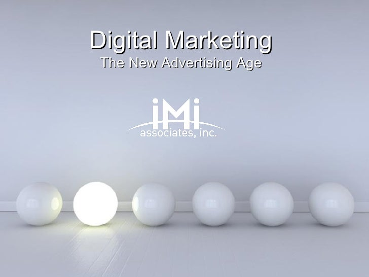 digital marketing - the new advertising age, Presentation templates
