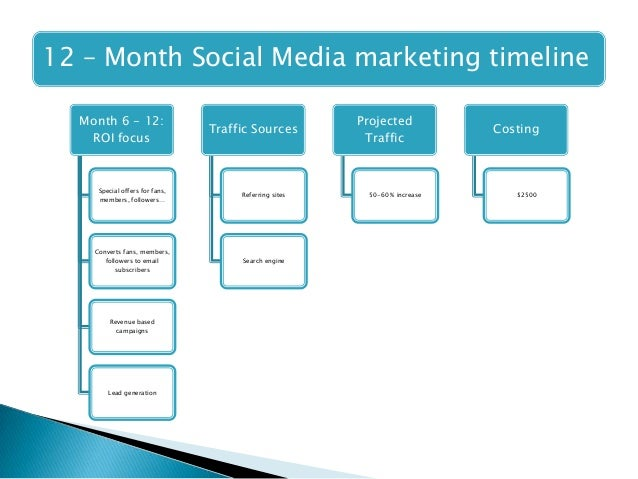 Digital Marketing PPT – Sample Marketing Timeline