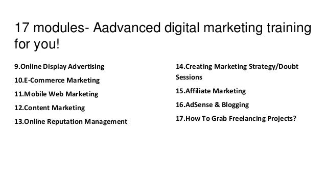 career aspiration for marketing course Digital marketing course online and in class  dynamic career in a fast growing industry  industry needs especially those with the aspiration and potential.