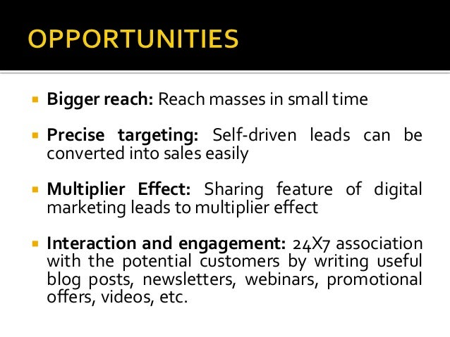 Digital Marketing: Opportunities and Challenges Slide 2