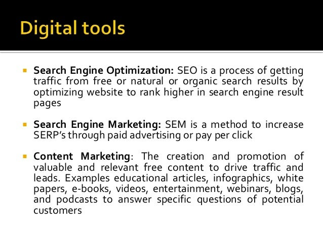  Search Engine Optimization: SEO is a process of getting traffic from free or natural or organic search results by optimi...