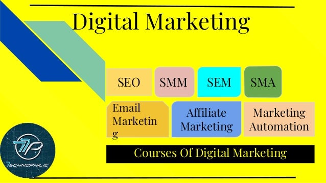 Courses Of Digital Marketing Digital Marketing SEO SMM SEM SMA Email Marketin g Affiliate Marketing Marketing Automation