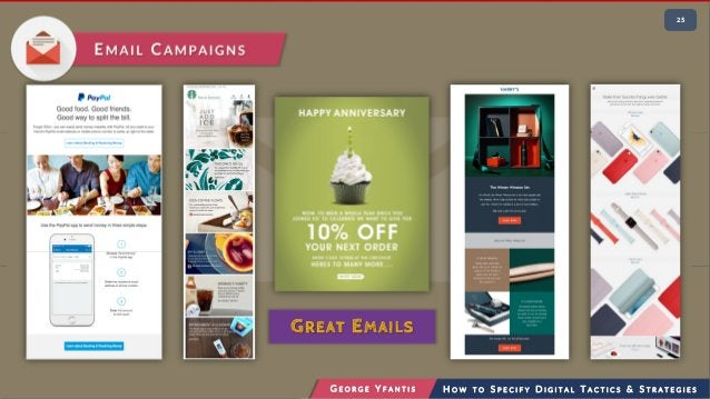 • 225 G E O R G E Y F A N T I S H O W T O S P E C I F Y D I G I T A L T A C T I C S & S T R A T E G I E S EMAIL CAMPAIGNS ...