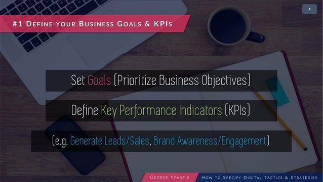 • 24 #1 DEFINE YOUR BUSINESS GOALS & KPIS Set Goals (Prioritize Business Objectives) Define Key Performance Indicators (KP...