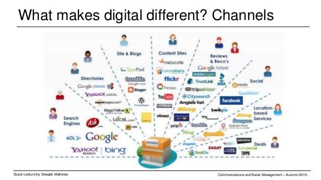 What makes digital different? Channels Guest Lecture by Deepak Mathews Communications and Sales Management – Autumn 2015