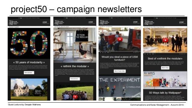 project50 – facebook Guest Lecture by Deepak Mathews Communications and Sales Management – Autumn 2015