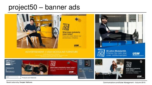 project50 – banner ads Guest Lecture by Deepak Mathews Communications and Sales Management – Autumn 2015