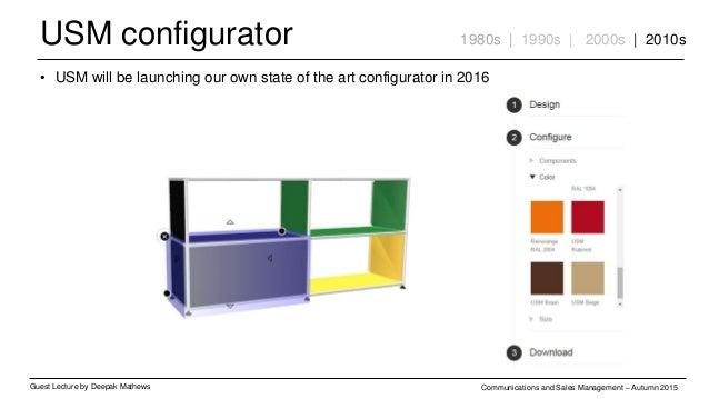 USM configurator Guest Lecture by Deepak Mathews Communications and Sales Management – Autumn 2015 1980s | 1990s | 2000s |...