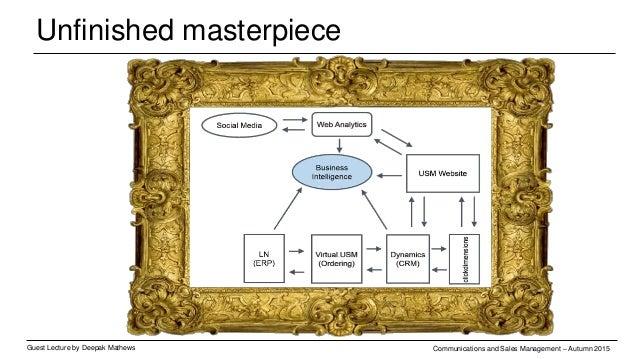 Unfinished masterpiece Guest Lecture by Deepak Mathews Communications and Sales Management – Autumn 2015